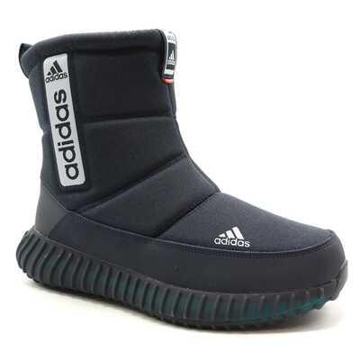Дутики Adidas Boost Tremx 25 Черные с белым с мехом