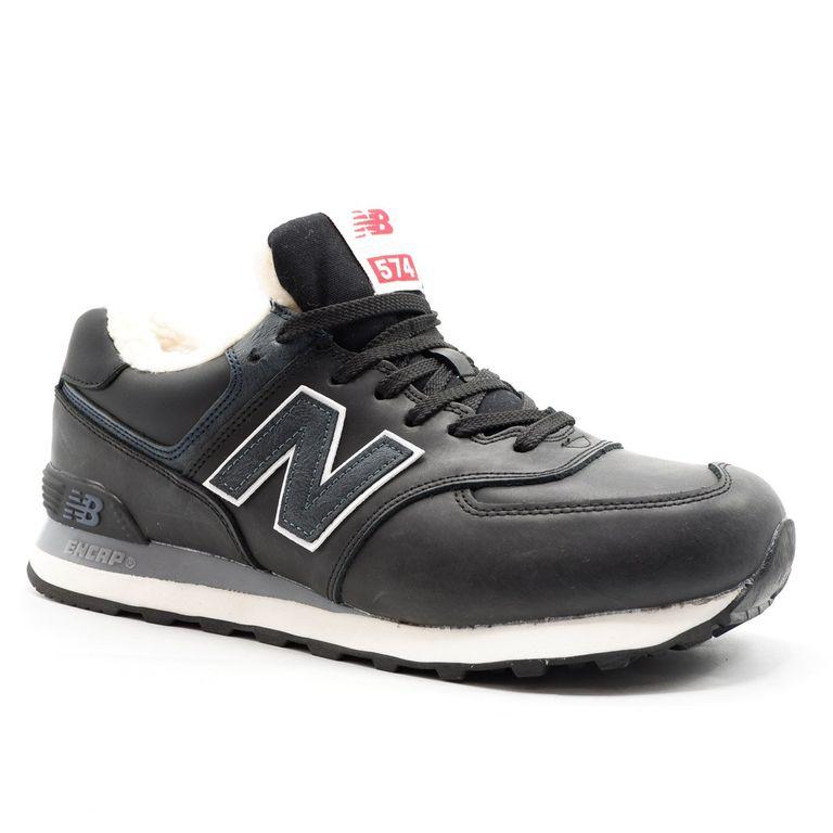 New Balance 574 Черные с мехом