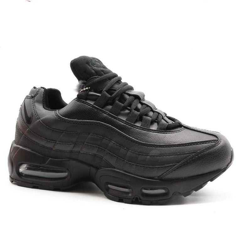 Nike Air Max 95 Черные с мехом