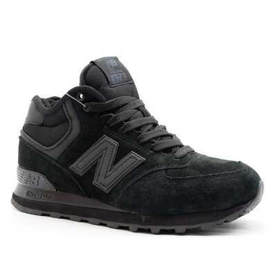 New Balance 574 Mid Черные с мехом