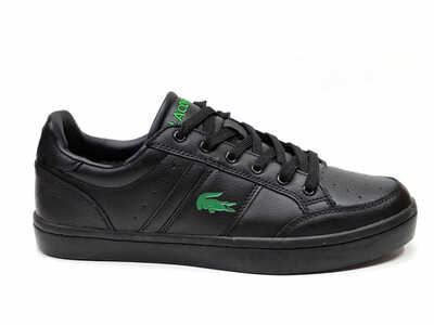 Lacoste Courtline Black Leather