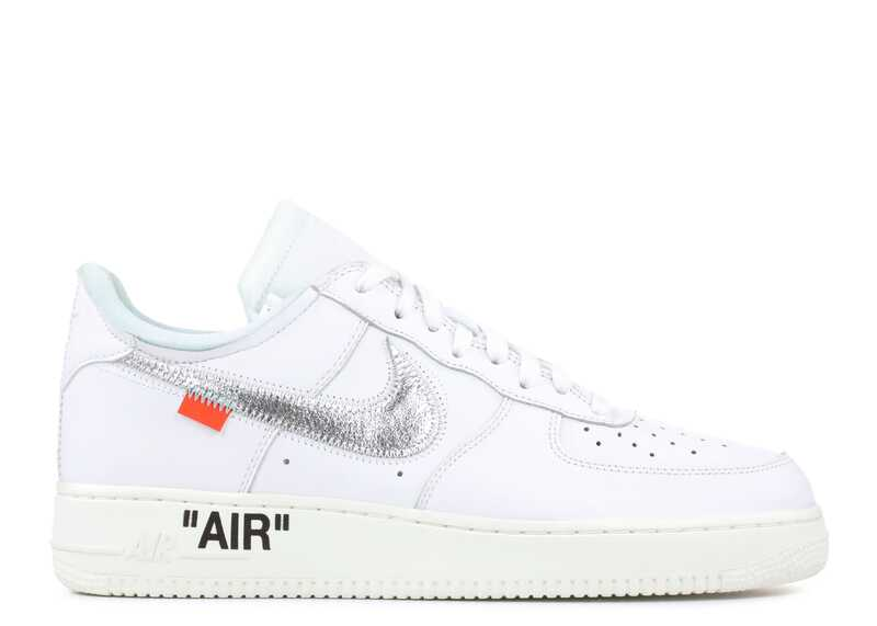 Nike Air Force 1 Low x Off-White Белые/Серебряные