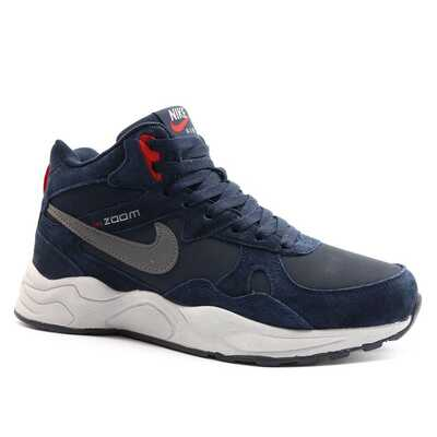 Nike Zoom Mid Leater Синие с мехом