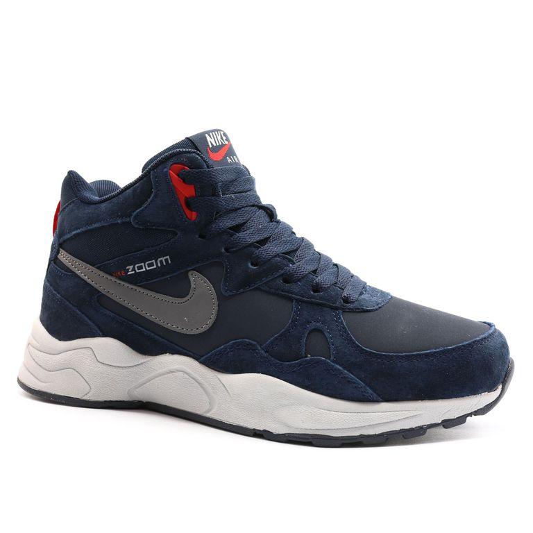Nike Zoom Mid Leater Синие с мехом