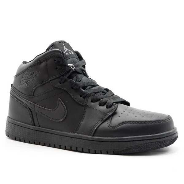 Nike Air Jordan 1 Retro Черные с мехом