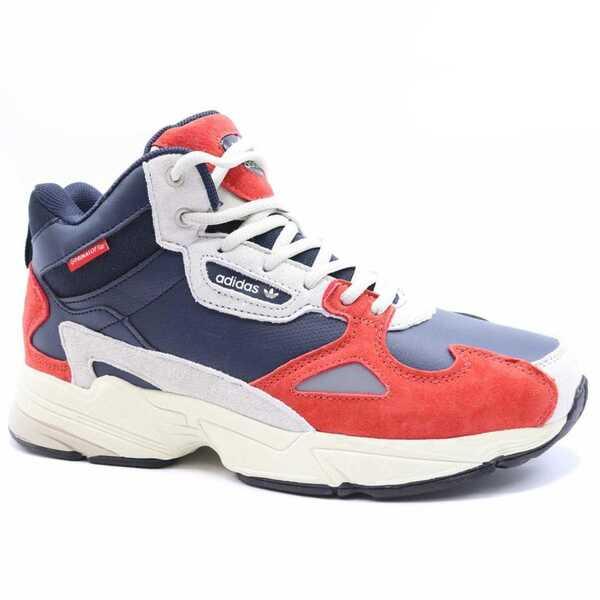 Adidas Falcon Красные с мехом