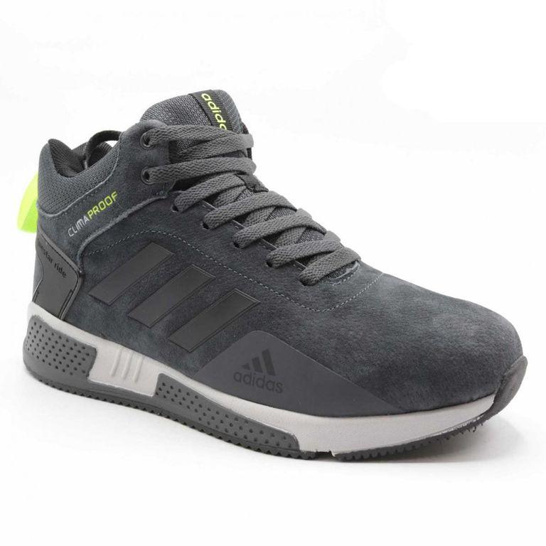 Adidas Climaproof Черно-зеленые с мехом