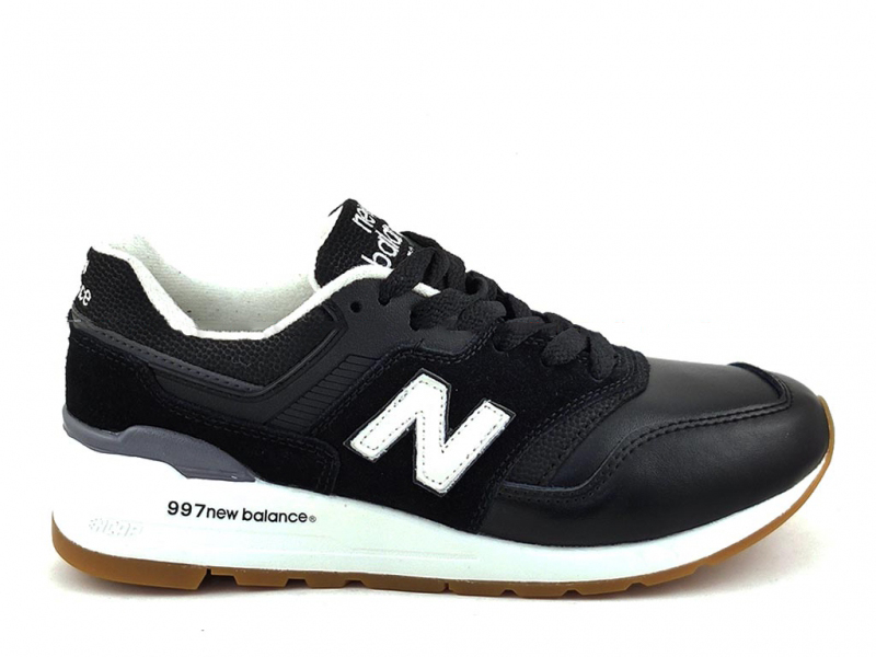 New Balance 997 Черные Кожаные