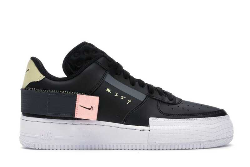 Nike Air Force 1 Low Type Черные