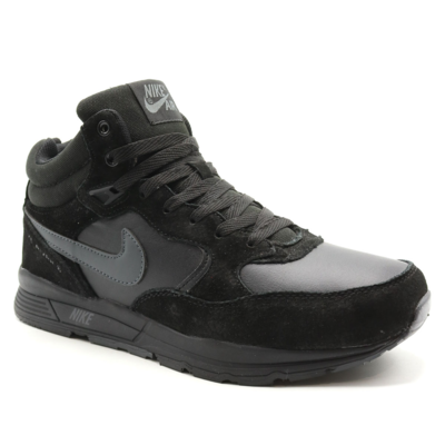 Nike Zoom Mid Leater Черные с мехом_mobile