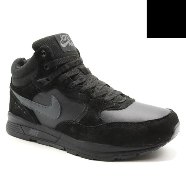 Nike Zoom Mid Leater Черные с мехом