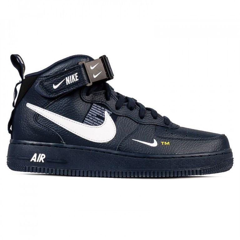Nike Air Force 1 MID 07 LV 8 Черные с мехом