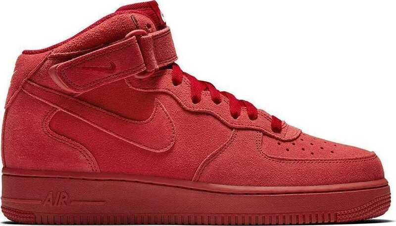 Nike Air Force 1 Mid Red Suede N19