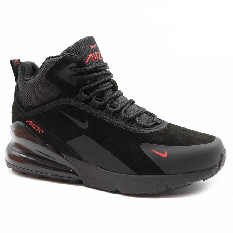 Nike Air Max 270 Черно-красные с мехом