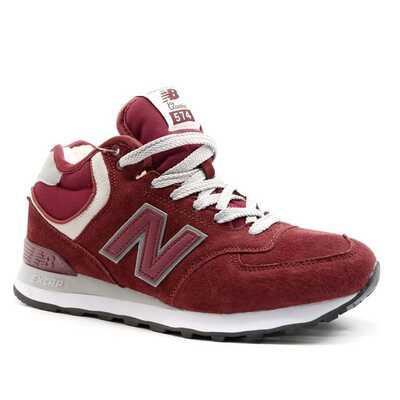 New Balance 574 Mid Красные с мехом