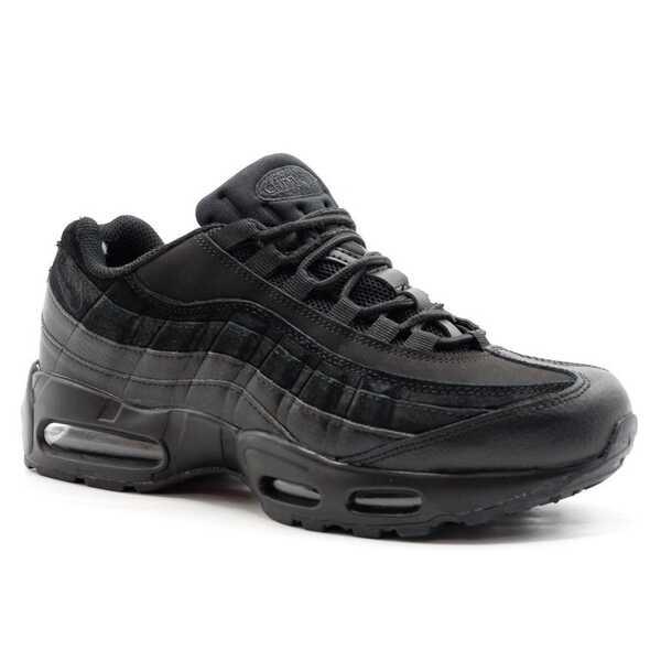 Nike Air Max 95 Черно-серые с мехом