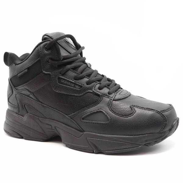 Adidas Falcon Черные кожаные с мехом