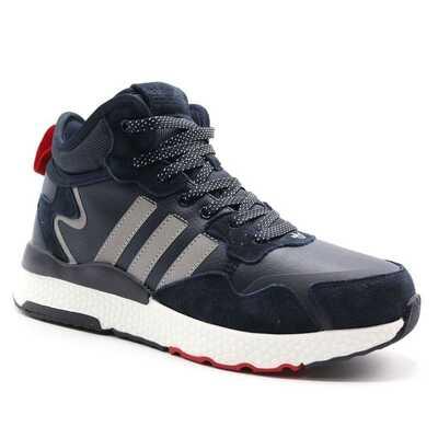 Adidas Nite Jogger Синие с мехом