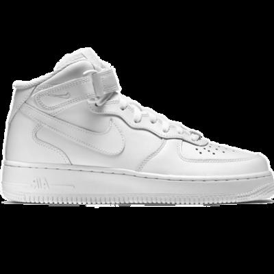 Nike Air Force 1 MID 07 LV 8 All white с мехом