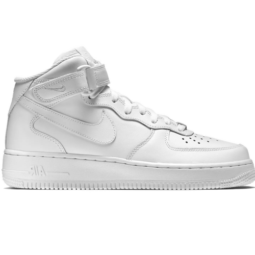 Nike Air Force 1 MID 07 LV 8 All white с мехом