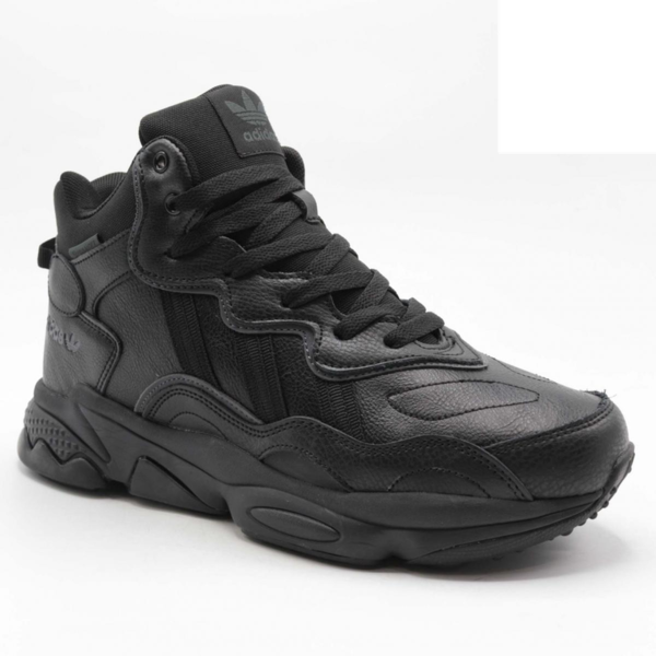 Adidas Ozweego Winter Proof Черные кожаные с мехом
