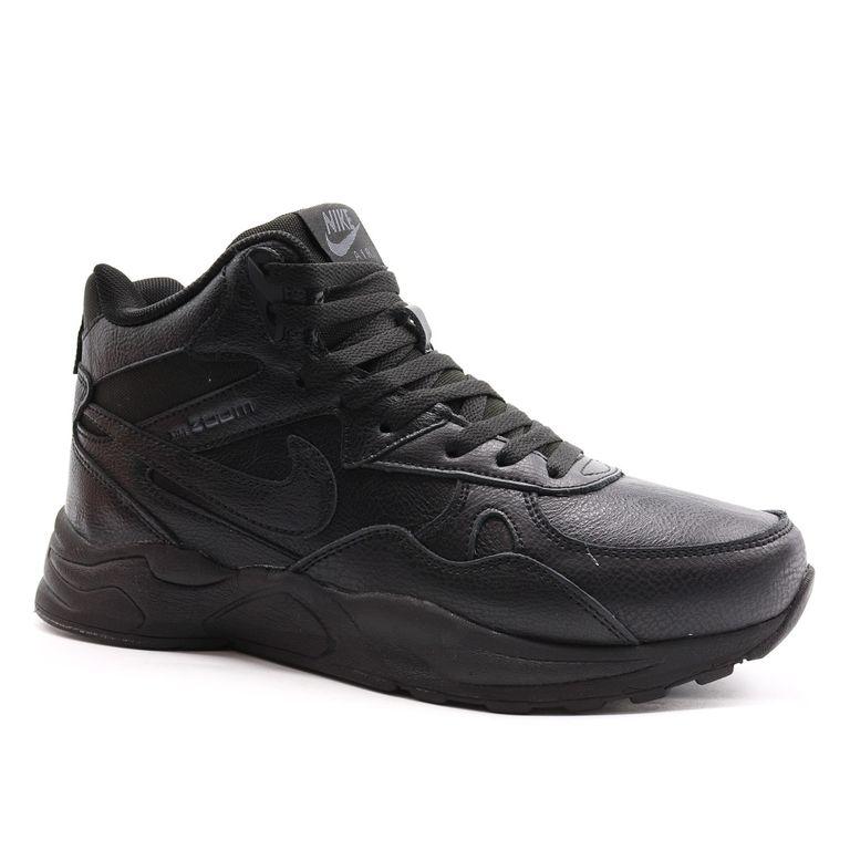 Nike Zoom Mid Leater Черные кожаные с мехом