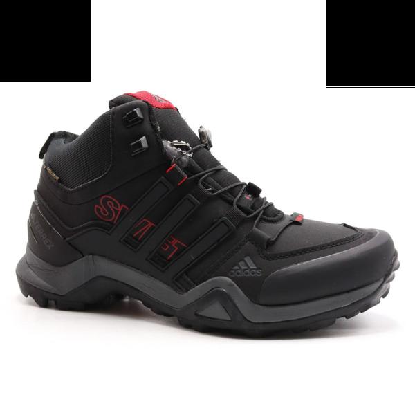 Adidas Terrex Swiftr Mid Черно-красные с мехом
