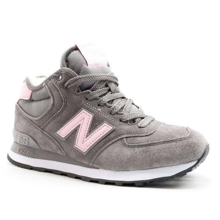 New Balance 574 Mid Розовые с мехом