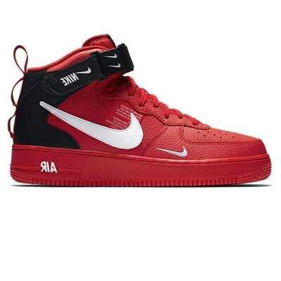 Nike Air Force 1 MID 07 LV 8 Красные с мехом