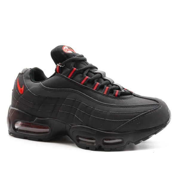 Nike Air Max 95 Черные-красные с мехом