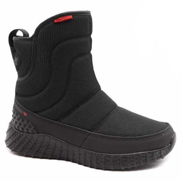 Дутики Adidas Boost Черные с мехом
