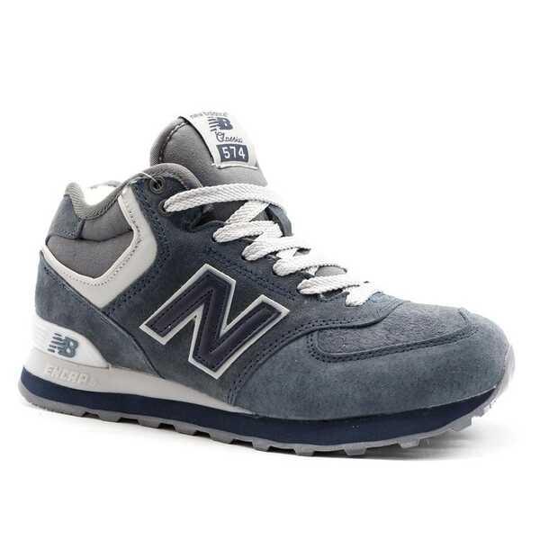 New Balance 574 Mid Синие с мехом