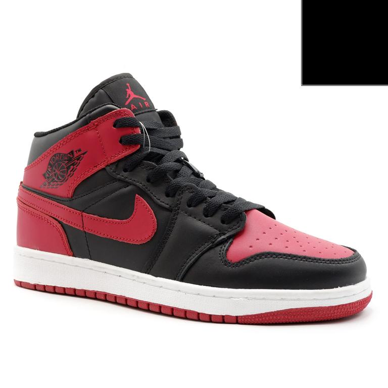 Nike Air Jordan 1 Retro Черно-красные с мехом
