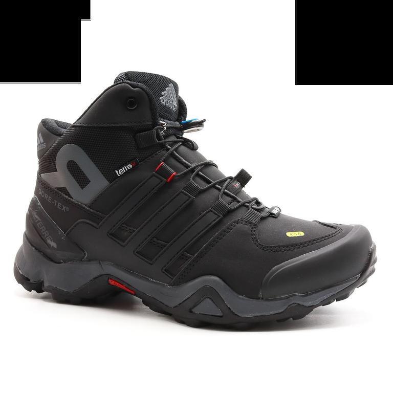 Adidas Terrex 451 Mid Черно-красные с мехом