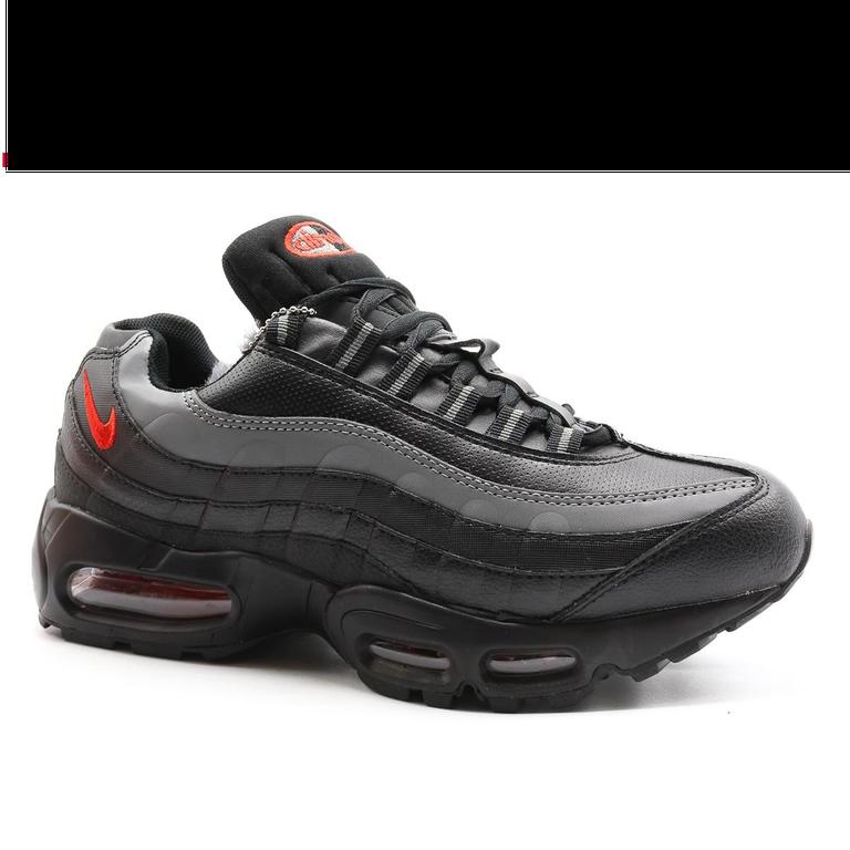 Nike Air Max 95 Черные с красным с мехом