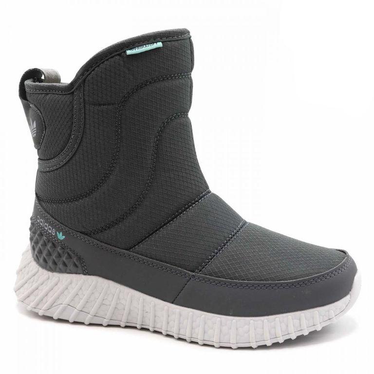 Дутики Adidas Boost Серые с мехом