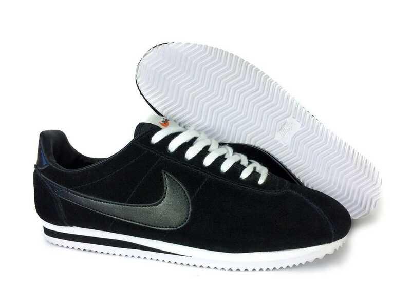 Nike Cortez Черные замшевые