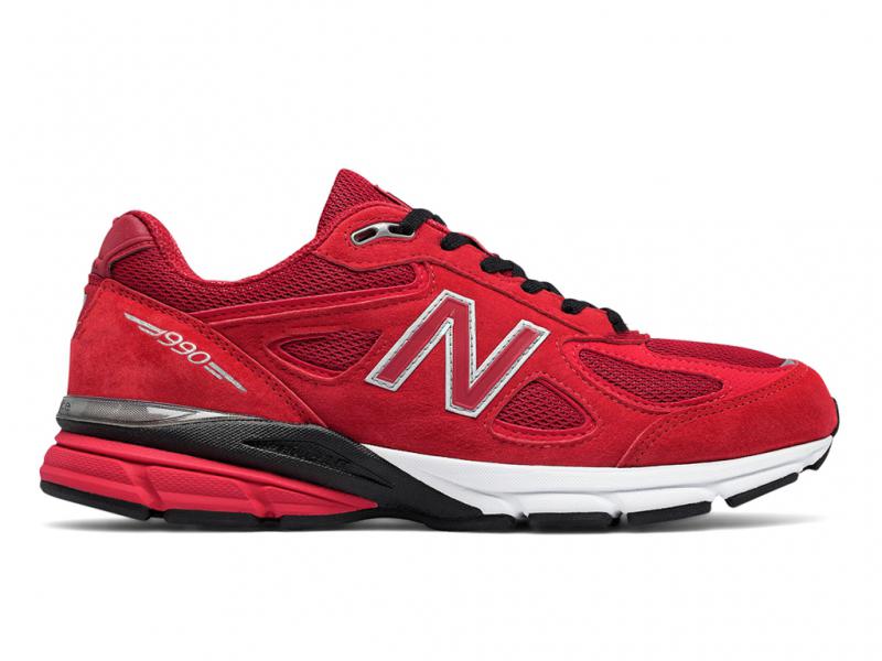 New Balance 990 V4 Красные