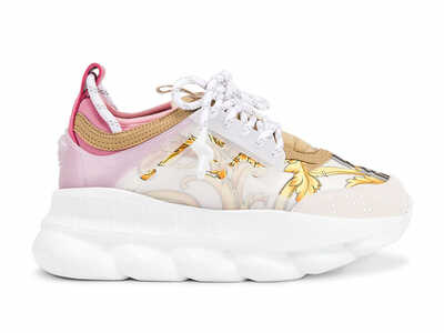 Versace Chain Reaction Hibiscus White Multi