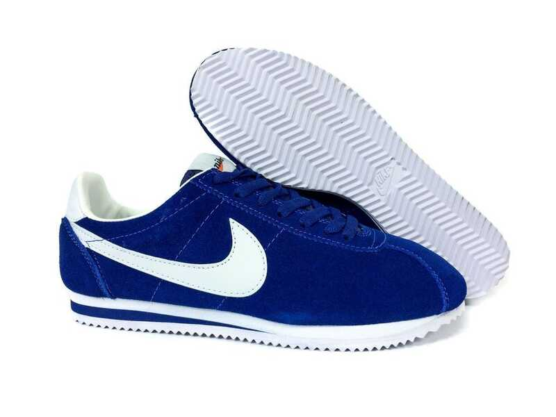 Nike Cortez Сине-белые замшевые