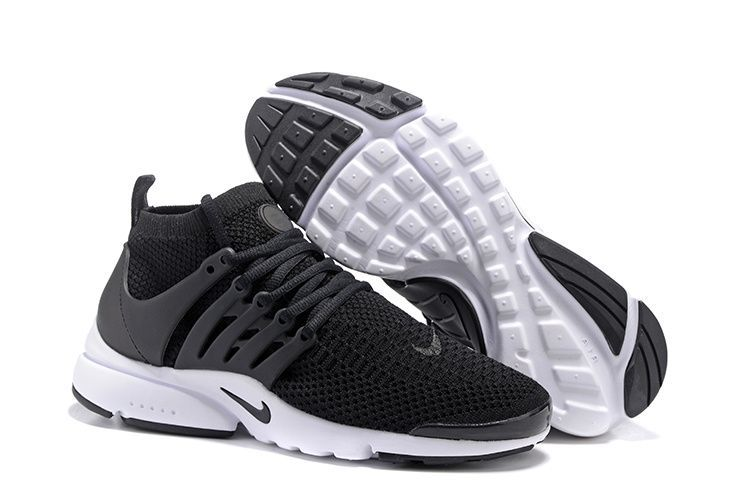 Nike Air Presto Flyknit Ultra Черно-белые