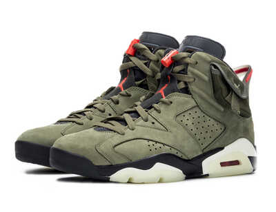 "Nike Air Jordan 6 X Travis Scott ""Cactus Jack"" (Khaki)_mobile"
