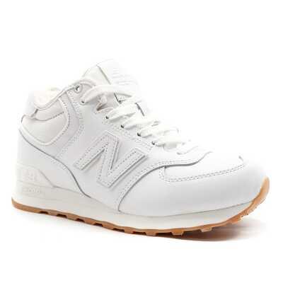 New Balance 574 Mid Белые с мехом