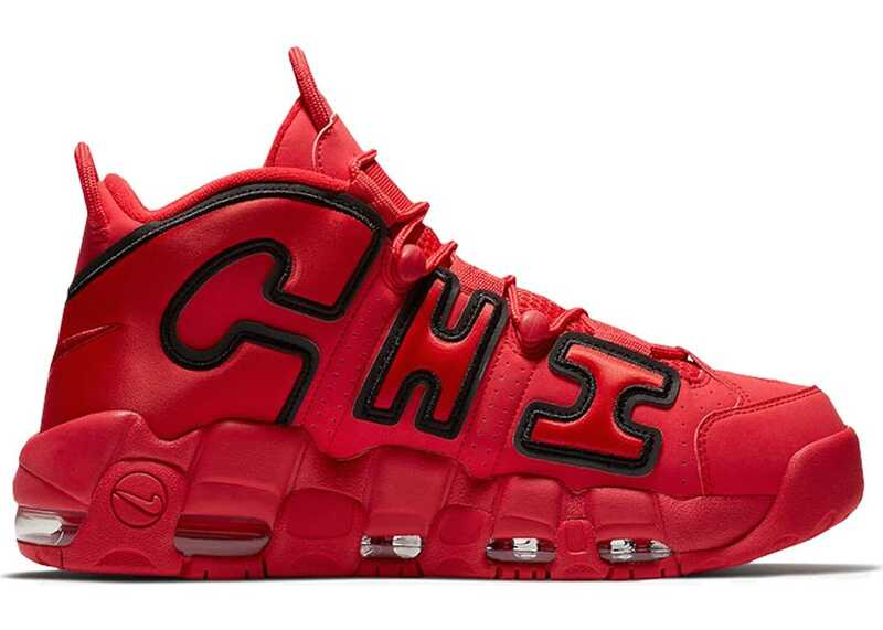 Nike Air More Uptempo Chicago Красные