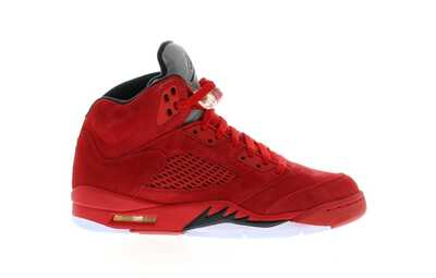 Nike Air Jordan 5 Red Suede