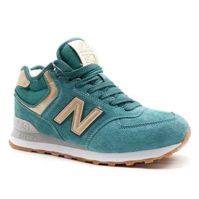 New Balance 574 Mid Зеленые с мехом