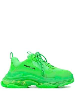 Balenciaga Triple S Clear Sole Зеленые