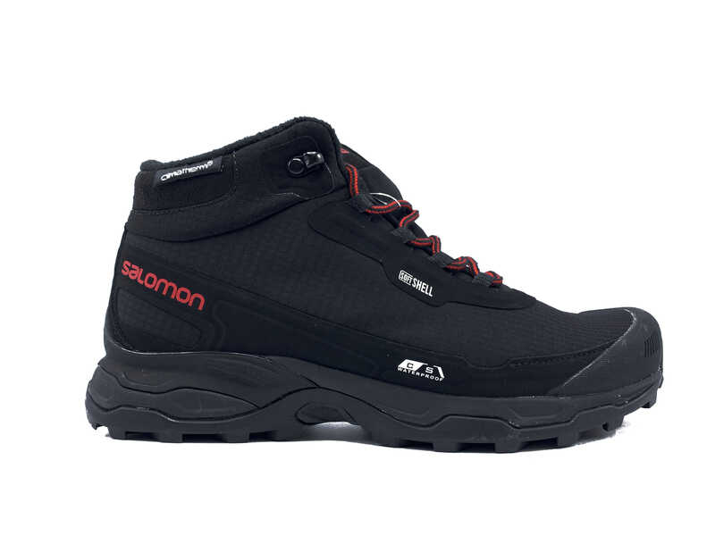 Salomon soft shell high Thermo black red
