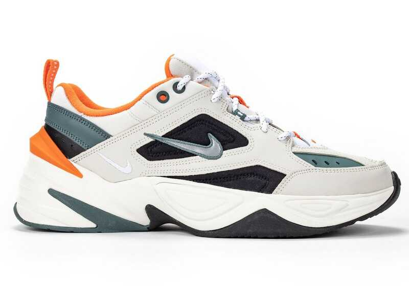 NIKE M2K TEKNO White-Orange-Black